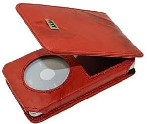 MTT Flip-Tasche für Apple iPod Classic Modelle - 30GB / 60GB / 80GB / 120GB / 160GB Video / in wash-rot