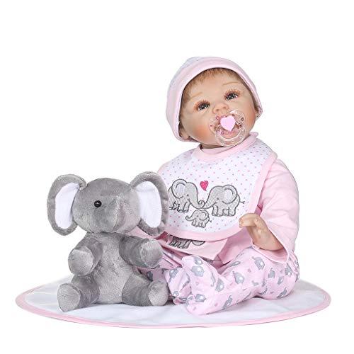 Fafalloagrron - Manta de silicona de 55,88 cm para recién nacido, diseño...