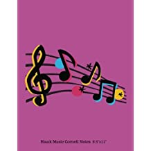 """Blank Music Cornell Notes 8.5""""x11"""": Music Sheets, Pages, Notes Taking System Manuscript, Staff Paper, 12 Staves Per Pages with 5 Lines, Music ... 150 Pages, Large 8.5""""x11"""" Paperback A4 Size"""