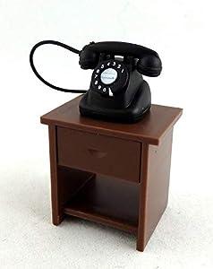 Melody Jane Casa de muñecas 1:24 - Escalera en Miniatura, Mueble de Mesa y teléfono magnético