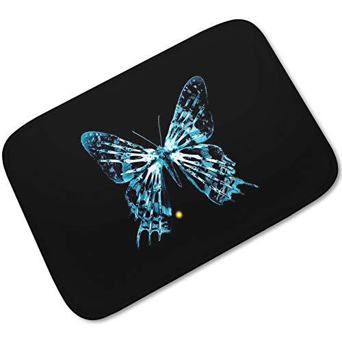1Sconto Bad Küche Teppich Bodenmatte Wasserdicht rutschfest Persönlichkeit Druck Türmatte Schmetterling Stabilität Und Anti Rutsch Garantie Komfort Und Sicherheit Mehrzweck