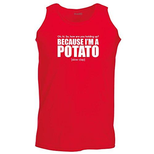 Brand88 - Because I'm A Potato, Unisex Athletic Weste Rot