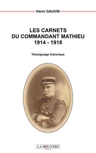 Les carnets du commandant Mathieu 1914-1918