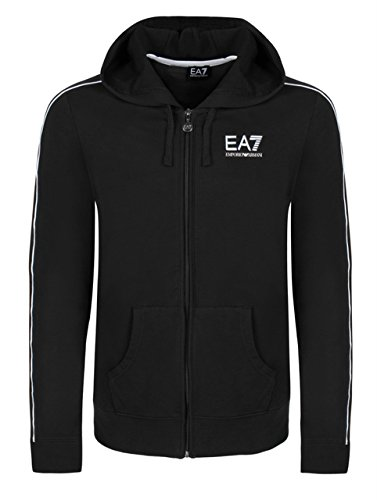 EA7 Emporio Armani Kapuzensweatshirt Trainingsjacke Stretch Schwarz (M, Schwarz)