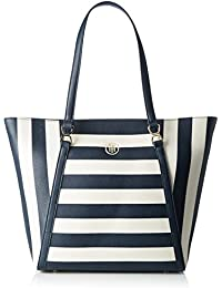 Tommy Hilfiger Damen FASHION NOVELTY STRIPE Tote Mehrfarbig (Midnight / Turtledove / Scooter red)