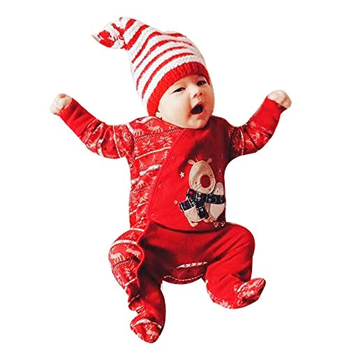 4ea6b5a9cf0e3 DAY8 Combinaison Noël Bébé Fille Hiver Pyjama Noël Bébé Garçon Automne  Manche Longue Grenouillères Fille Naissance