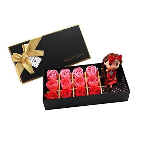 Pixnor flora profumato bagno sapone rosa fiore rosso confezione da 12