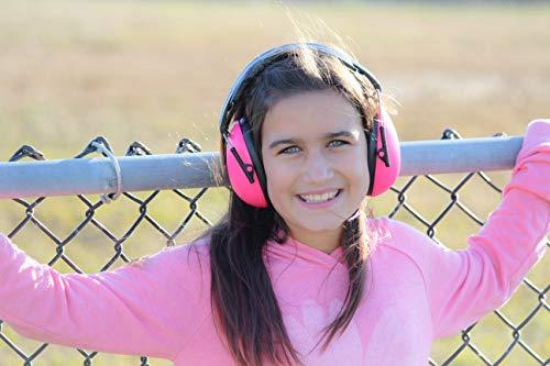Babybanz GKB003 Kindergehörschutz, 2-12 Jahre mit extra weichem Kopfbügel, faltbar, pink