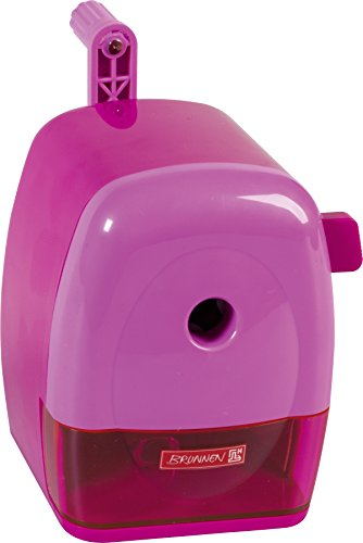 Brunnen 102987226 Spitzmaschine Kurbel Colour Code (mit Tischzwinge, für dicke und dünne Stifte bis 11,5 mm) pink (Brunnen Schreibtisch)
