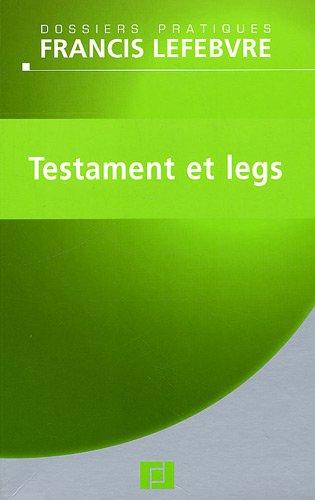 Testament et legs