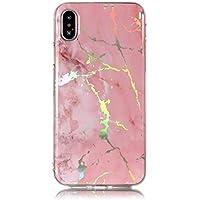 Neo Silikon Hülle [Scratch-Resistant],Kreativ Niedliche Bling Glitter Marble Silikon Schutzhülle/Cover Soft Ultra Dünn Crystal Clear Kirstall Gel TPU Protective back für iPhone XS iPhone X