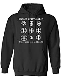 Buzz Shirts Choose Your Weapon Metal Detector Elija Sudadera con Capucha o suéter Hombres Mujer Unisex