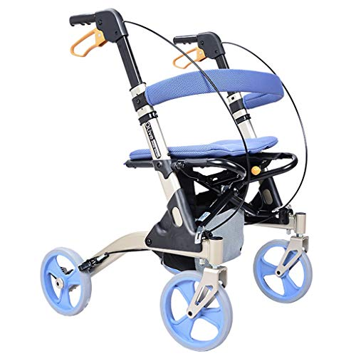 Einkaufstrolleys Walker Einkaufswagen Aluminiumklappbarer Tragbarer Einkaufswagen Ältere Vierrädrige Wagen Leichtgewichtler Lebensmittelwagen Kaufen Rollstuhl Geben Sie Den Älteren