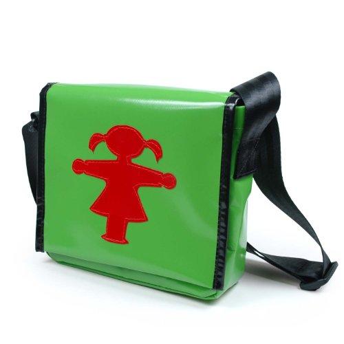 Preisvergleich Produktbild AMPELMANN Umhängetasche klein - Gepäckträgerin Ampelfrau rot gruen