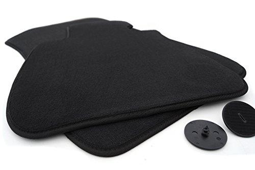 Set di 2 tappetini per auto in velluto per BMW (E90/E91/E92/E93), colore nero