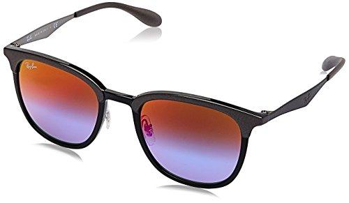 RAYBAN JUNIOR Unisex-Erwachsene Sonnenbrille RB4278 Black/Matte Grey/Greenmirrorbluegradviolet 51
