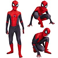 Leezeshaw Superhero Spiderman Costumes Unisex Adults Kids Lycra Spandex Zentai Spider Verse Miles Morales Jumpsuit Bodysuit Halloween Cosplay Costumes