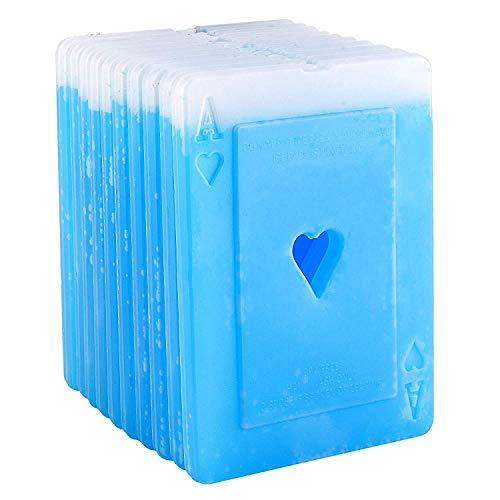 Whamsha Kühler Slim Ice Packs für Lunch-Box, schnelle Kühlung & langlebige Gefrier-Packs für Büro/Camping/Strand/Picknicks, 10 Stück