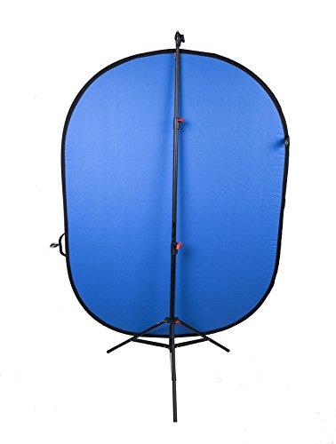 Système de Support de Fond | Chromakey Pop Up Bleu et Vert réversible de 150 x 200 cm et Support léger breveté de 265 cm | Garantie UE/Royaume-Uni de 1 an | par Vie de Photo