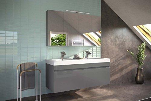 Set Da Bagno Moderno : Msa sam moderno arredo bagno parma grigio lucido set di pezzi