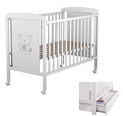 Star Ibaby Dreams Sweet - Cuna de bebé 8 posiciones con cajón. Lateral abatible. Color blanco.