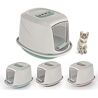 Cat Galaxy Hooded Litter Tray Kitten Toilet Filter Carry Handle Flap Door 4 Colours Cat Galaxy Hooded Litter Tray Kitten Toilet Filter Carry Handle Flap Door 4 Colours 41KoXb7u2YL