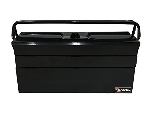 Cantilever Steel Tool Box (Excel TB122B-Black 19-Inch Cantilever Steel Tool Box, Black by Excel)