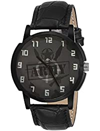 Golden Bell Original Grey Dial Black Strap Analog Wrist Watch For Men - GB-924