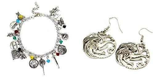 2Pack Game of Thrones orecchini e braccialetto W/Gift Box from Outlander