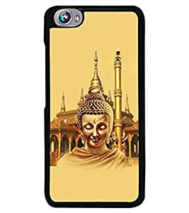 Fuson Premium Lord Buddha Metal Printed with Hard Plastic Back Case Cover for Micromax Canvas Fire 4 A107
