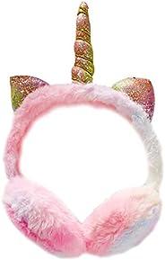 YUESEN Orejeras de Invierno de Unicornio Orejeras de Peluche para niños, diseño de Unicornio Calentadores Suav