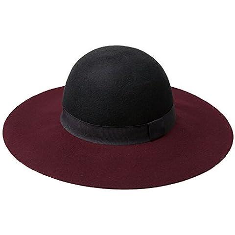 Cappelli di lana autunno/Larghe cappello di feltro dellInghilterra/Secchio di collisione semplice cappello