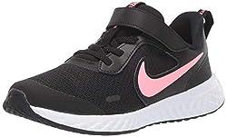 Nike Unisex-Kinder Revolution 5 (PSV) Walkingschuhe, Schwarz (Black/Sunset Pulse 101), 34 EU