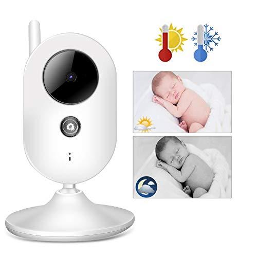 Monitor de bebé Qinlorgo de 3.5 pulgadas Monitor de video para bebés versión nocturna por infrarrojos...