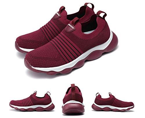 Gracosy Zapatillas de Running para Mujer Zapato de Trail Verano Slip-on Malla Zapatillas Deportivas...