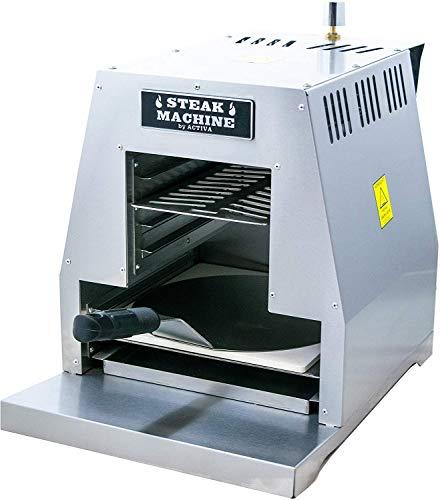 """ACTIVA Grill """"Steak Machine"""" Pizzaofen Pizzagrill Gasgrill Steak-Grill 800 Grad Oberhitze-Gasgrill aus Edelstahl inkl Pizzastein und Pizzaschieber"""