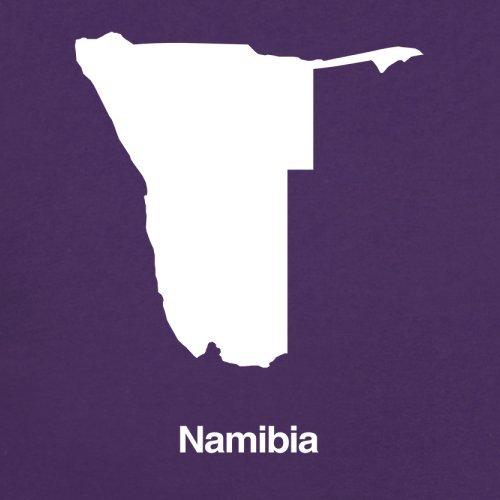 Namibia / Republik Namibia Silhouette - Herren T-Shirt - 13 Farben Lila