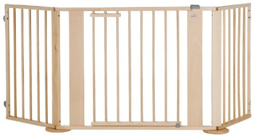 Geuther - Kaminschutzgitter / Konfigurationsgitter 2762, Türelement, Verlängerung, Winkelelement mit Fuß, erweiterbar, Holz, 100 - 180 cm