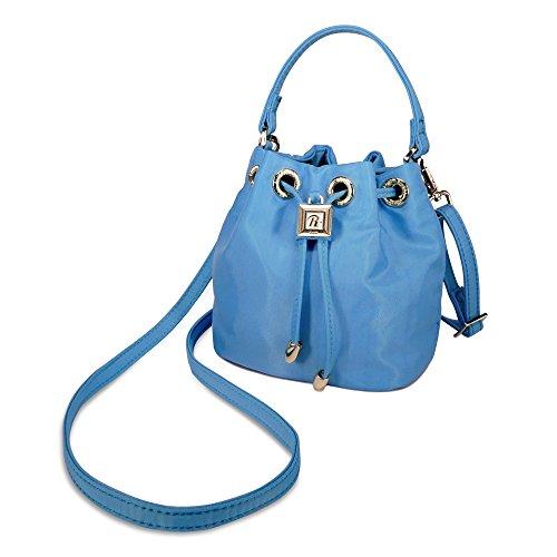 RIVIERA, Rivierina, borse a secchiello, borse a mano, borse a tracolla, bucket bag in 3 colori: bianco, giallo, azzurro Blu