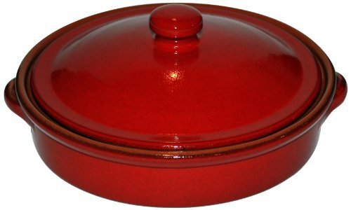 amazing-cookware-25cm-pearlescent-terracotta-round-dish-with-lid-red