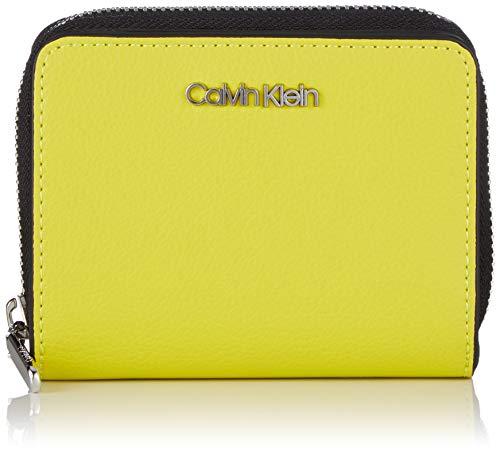 Calvin Klein Damen Avant Medium Zip Wflap Geldbörse, Grün (Lime), 3x9.5x12.5 cm -