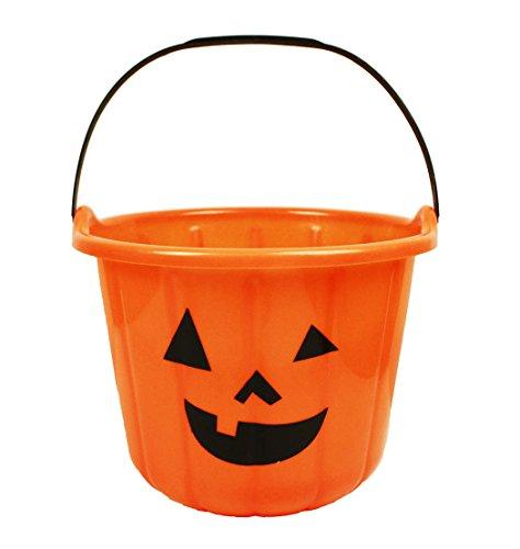 HAAC Sammeleimer Eimer Kürbis Halloween Größe 22 cm x 18 cm Farbe orange