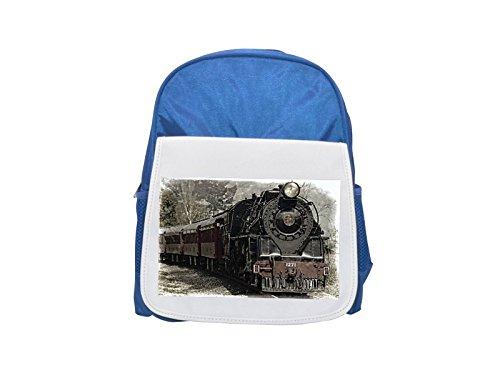 Locomotora, locomotora de vapor, mochila de tren, mochila azul estampada para niños, mochilas lindas, mochilas pequeñas, mochila negra linda, mochila negra fría, mochilas de moda, mochilas grandes de moda, negro de moda