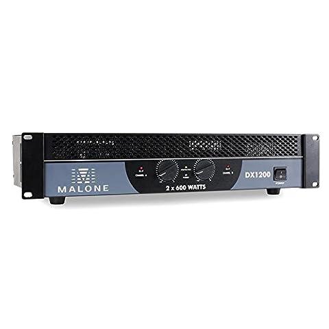 Malone DX1200 PA Amplifier (1200W, Bridgeable, Suitable on 48cm Rack