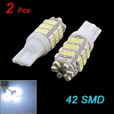 2x W5W T10 42 LED SMD Blanc Xenon Veilleuses Ampoule Lampe Pour VOITURE feux lumiere 12V DC