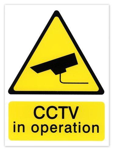 Hi-Glo Hinweisschild Überwachungskamera (englischsprachig), 200 x 150mm