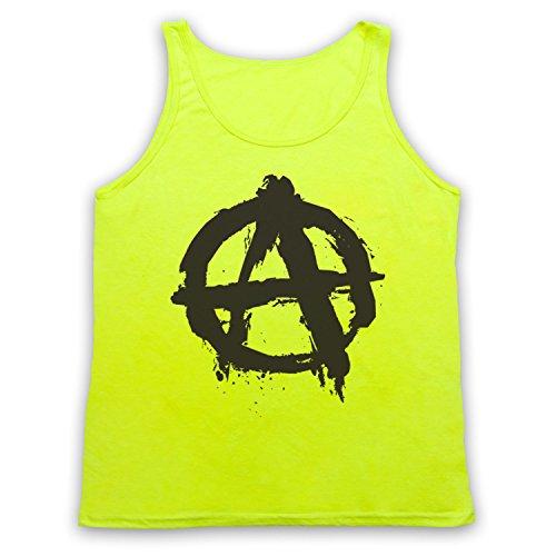 Anarchy Logo Tank-Top Weste Neon Gelb