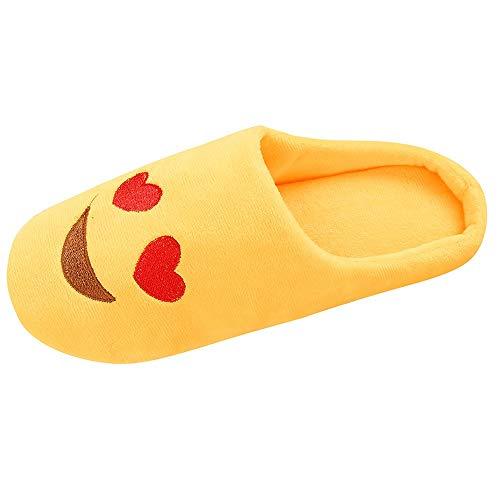 Hausschuhe Unisex Winter Wärme Plüsch Emoji Stiefel DOLDOA Pantoffeln Slipper