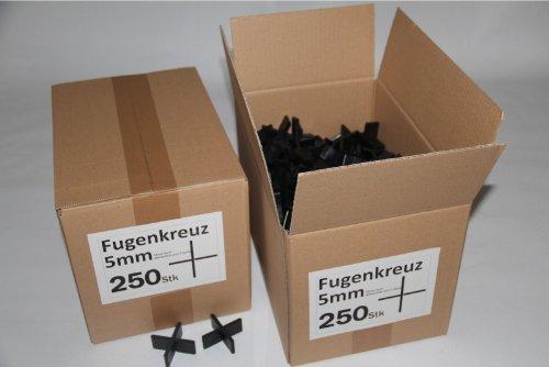 Fugenkreuze 5mm, Bauhöhe 20mm, 250 Stück im Karton