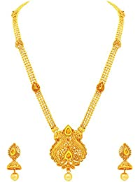 Atasi International Jewellery Rhinestone Set for Women (Multi-Colour)(AG1808)